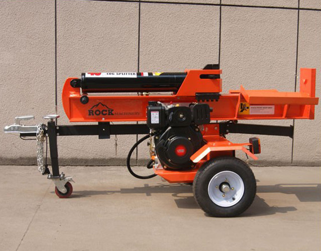 42T Gasoline Engine Fluid Pressure Firewood Log Splitter , petrol wood splitter
