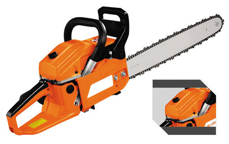 Petrol / Gas Powed 52CC Manual Chainsaws Green Cut Chainsaw With Magnesium Alloy Crankcase